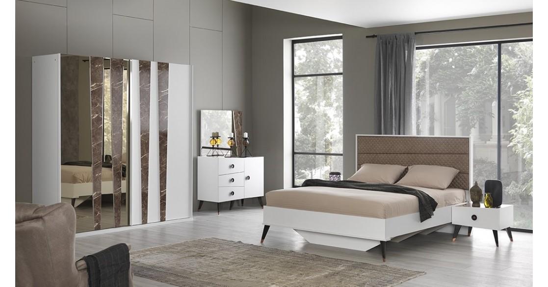 İzmir Beyaz Yatak Odası Takımı