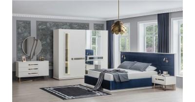 İnci Beyaz Gold Yatak Odası