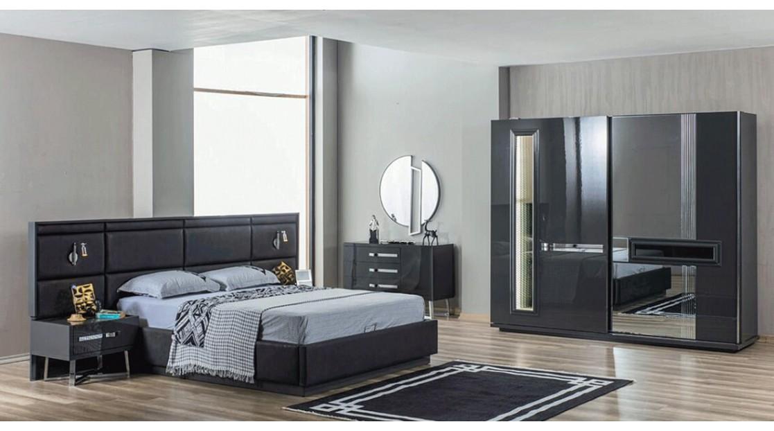 İnci Antrasit Yatak Odası