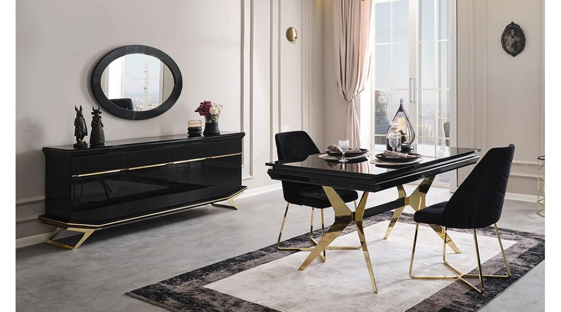 Villa Siyah Gold Yemek Odası