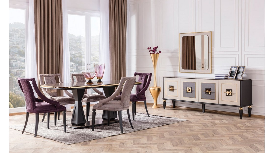 Gold Art Deco Yemek Odası