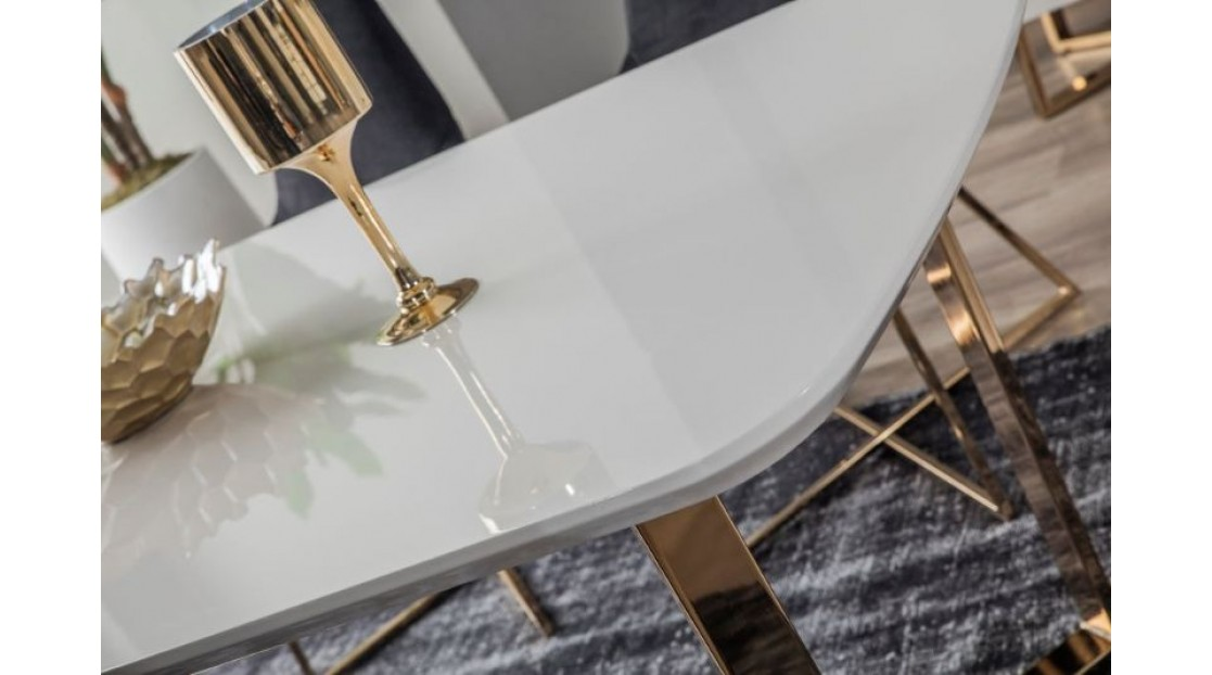 İnci Beyaz Gold Yemek Odası
