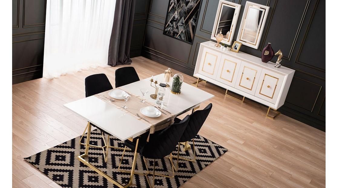 Voga Beyaz Gold Yemek Odası