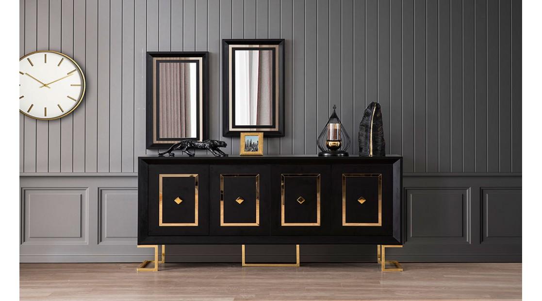 Voga Siyah Gold Yemek Odası
